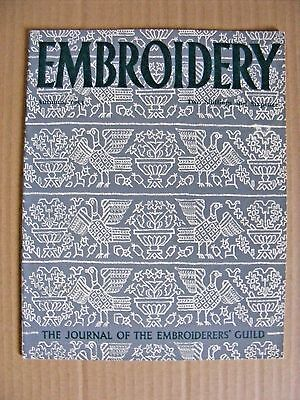 Embroidery Guild Magazines Autumn 1953