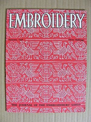 Embroidery Guild Magazines Autumn 1958