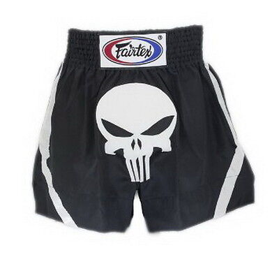 Fairtex Muay Thai Kick Boxing Shorts Punisher Skull Bs96 S, M, L, Xl Aus Stock