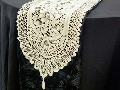 36 pcs LACE TABLE RUNNERS Wedding Party Catering Wholesale Linens Decorations