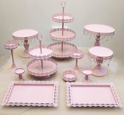 Set of 12 Pieces Pink Cupcake Cake Stand Dessert Candy Bar