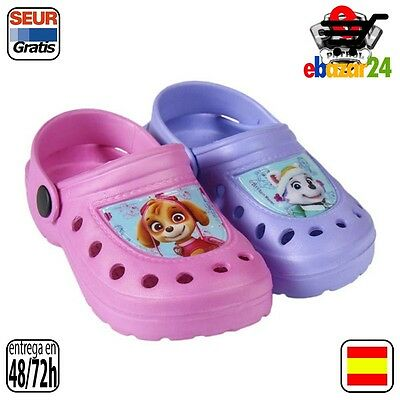 The Paw Patrol Original Zuecos de Playa Fashion La Patrulla Canina Color Rosa Ta