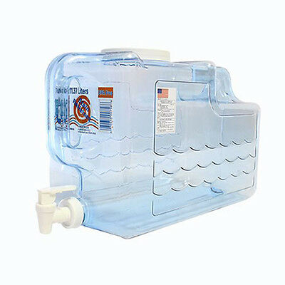 Kazmi Portable Drinking Water Tank Easy Wash Carry Handle 11.37 Liter Made in US