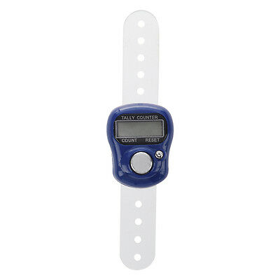 Adjustable Soft Band Royal Blue Housing Resettable Finger Counter