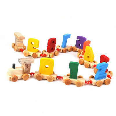 Children Digital Train 0-9 Number Maths Educational Wooden Toy Early Learning