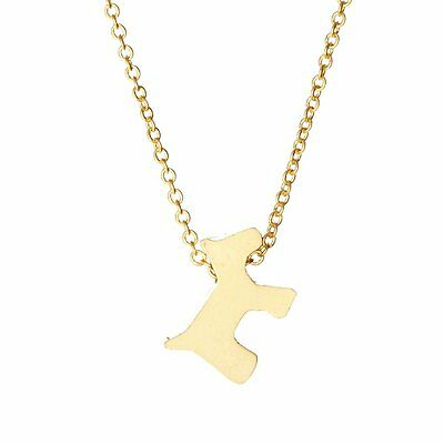 Scottie Dog Necklace - Gold Plated
