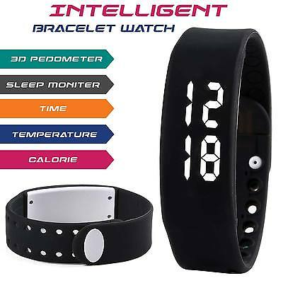 New Smart Wrist Watch Bracelet Pedometer Step Calorie Counter Walking Jogging