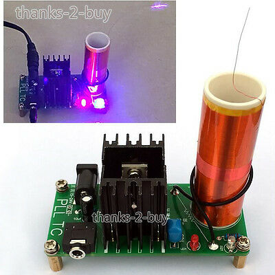 DC15V 15W Mini Music Tesla Coil Plasma Speaker Tesla Wireless Transmission Board