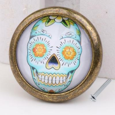 Skull Cupboard Door Knob Wardrobe Drawer Pull Handle Cabinet Hardware #13