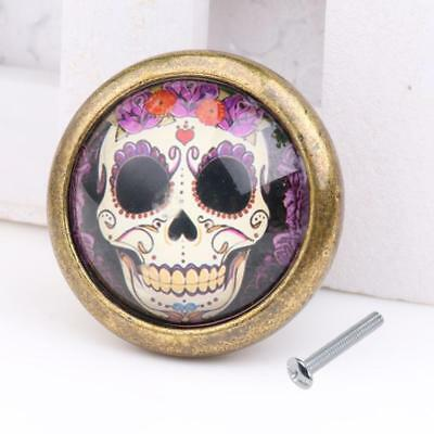 Skull Cupboard Door Knob Wardrobe Drawer Pull Handle Cabinet Hardware #07