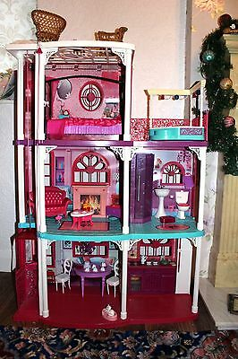 Barbie three storey Dream Town House with furniture