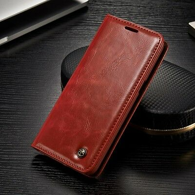Leather Wallet Card Slim Flip Case Shockproof Cover for Samsung Galaxy S8 plus