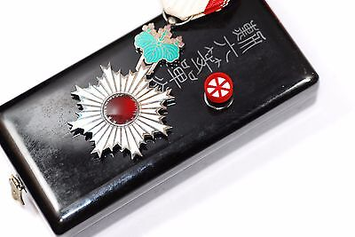 Japanese Order of the Rising Sun,6th Class Medal Badge w/Box from Japan 342_2