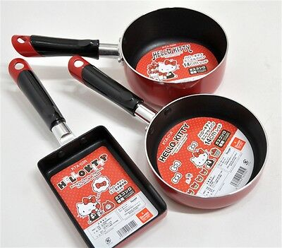 Hello Kitty Mini Cookware SET Mini Skillet Frying pan Hot pot Egg Grill Kitchen