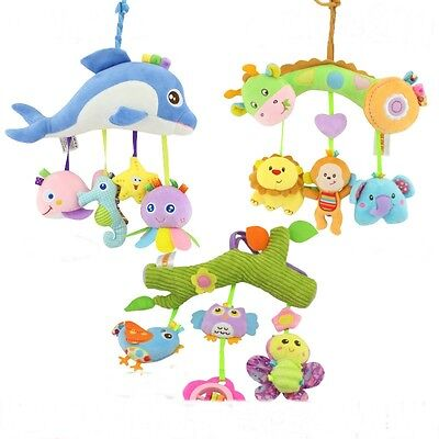 1Pc Baby Infant Pram Stroller Bed Hanging Bell Soft Plush Animal Rattles Toys