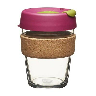 KeepCup Glass Coffee Cup with Cork - Cinnamon (12oz)  | BRAND NEW