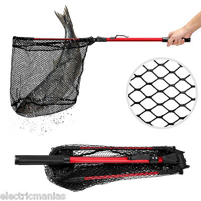 Enkeeo Foldable Fishing Net Triangular Landing Net Kayak Boat Fish Net Handle AU