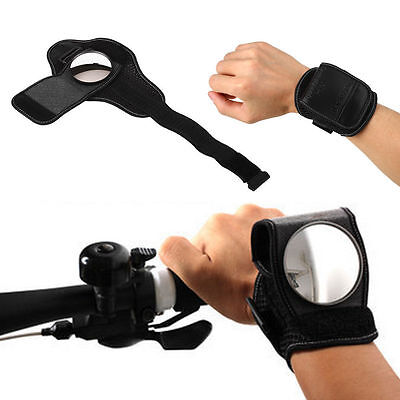 Sport Bicycle Bike Adjustable Wrist Strap Rearview Mirror Cycling Back Mirror