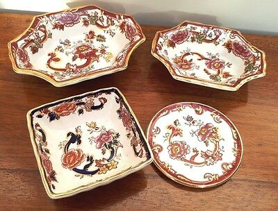 Mason's Ironstone Collection - x4 Pieces Mandalay Red & Blue Sweet Dish Coaster