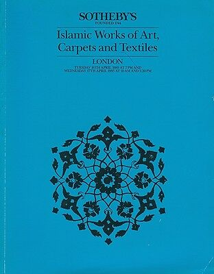 Sotheby's Islamic Works Of Art Carpets And Textiles Katalog 16Th April 1985