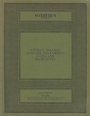 SOTHEBY'S Ancient, Islamic, English and Foreign Coins and Banknotes London 1985