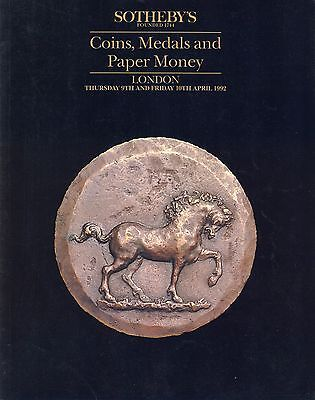 SOTHEBY´S Coins, Medals and Paper Money London 9th & 10th April 1992