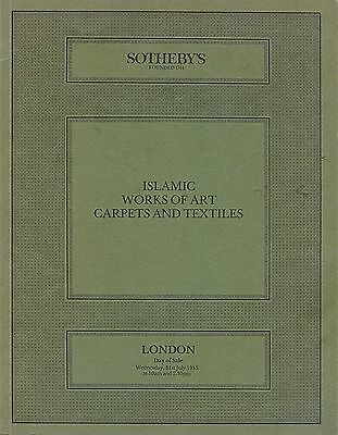 SOTHEBY´S Islamic Works of Art, Carpets and Textiles London 31st July 1985