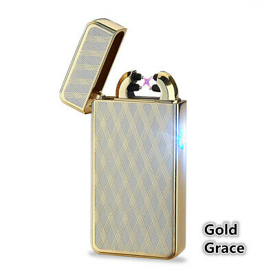USB Rechargeable  Electric  Lighter Cigarette Double Arc Pulse Flameless  Torch