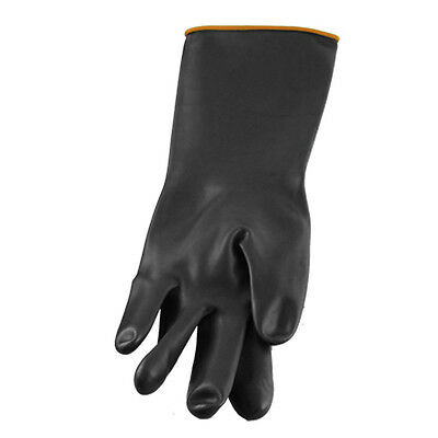 """Pair 14.5"""" Length Anti Acid Industry Chemical Resistant Rubber Gloves"""