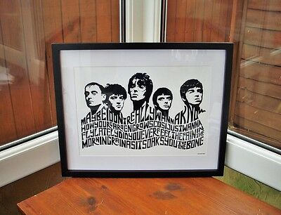 Oasis/Live Forever A3 size typography art print/poster