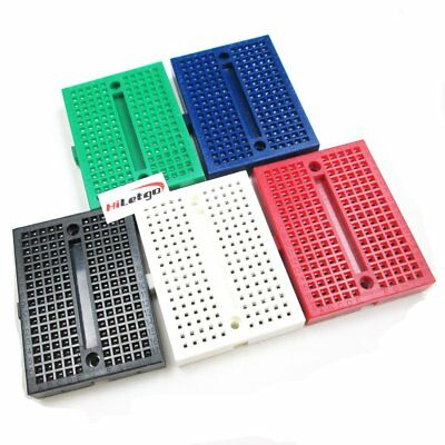 5PCS mini SYB-170 Breadboard Colorful Breadboard Prototype Board Small Plates