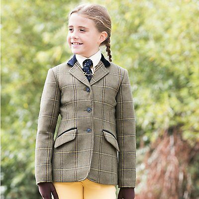 New! Equetech Junior Stowe Deluxe Tweed Riding Jacket sizes 26 - 32