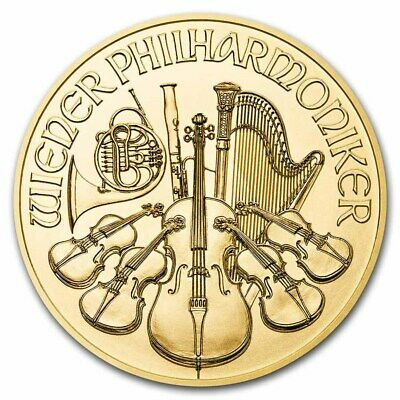 2017 1/10 Once Or Philharmonique Autriche 1/10 Oz Austrian Gold Coin 10 Euros €