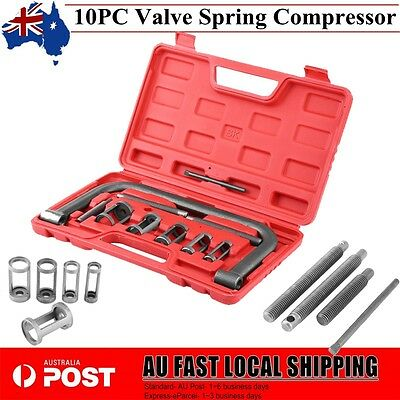 10pc Valve Spring Compressor Tool for Car Motorcycle Petrol Engines Vehicle Case