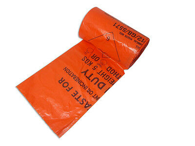 Clinical Waste Bags Orange- Roll of 50 bags