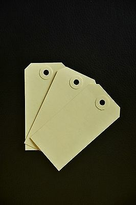 50 Cream Unstrung Tags Luggage Labels 96Mm X 48Mm With Matching Cream Washers