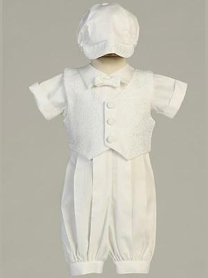 ALLEN Baby Boys White Cotton Christening Outfit 0-3m 3-6m 6-12m 12-18m
