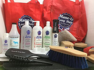 Manely Long Equine Hair Product Set