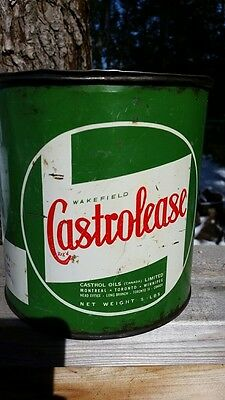 Wakefield Castrolease 5 lb Grease Tin Can Made By Castrol Motor Oil Canadian