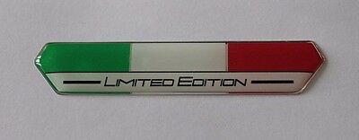 Italy Flag Limited Edition Sticker/Decal (White) - HIGH GLOSS DOMED GEL FINISH