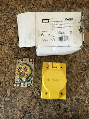 NEW Hubbell 67W47H NEMA L5-20R Watertight Receptacle Assembly , 2 Available