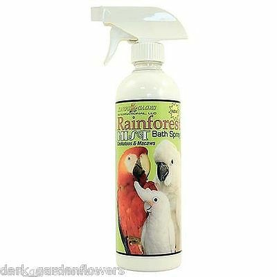 Rainforest Mist Bath Spray For Cockatoos and Macaws