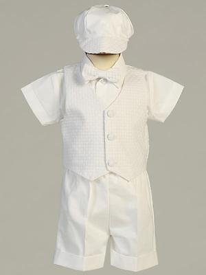 DEXTER Baby Boys White Cotton Christening Outfit 0-3m 3-6m 6-12m 12-18m 18-24m