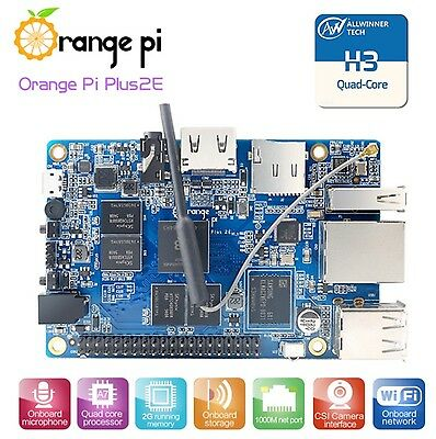 Orange Pi Plus 2E H3 Quad Core 1.6GHZ 2GB RAM 4K Open-source