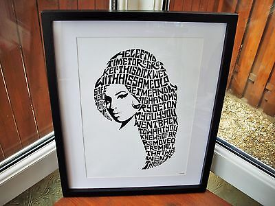 Amy Winehouse/Back To Black A3 size typography art print/poster