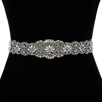 ULAPAN Womens Diamonds Bridal Belt Bridal Sash Wedding Belts Wedding Sashes