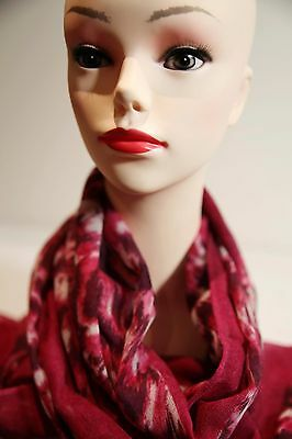 SPORTSCRAFT Sarah long scarf burgundy multi in colour new with tag