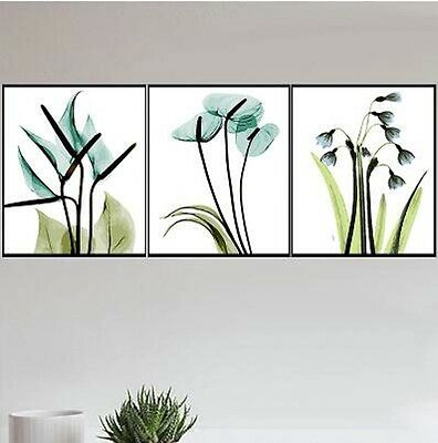 Set of Three 40*50cm Canvas Painting by Number Flower Trees S5 F3P006 AU STOCK