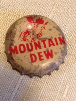 vintage Mountain dew hillbilly bottle cap cork
