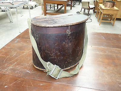 Vintage Antique Kidney Shape Fly Fishing Tackle Bag, Box Wooden Collectible Rod